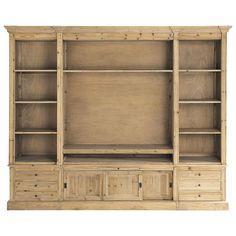 Bibliothèque meuble TV en bois ... - Passy