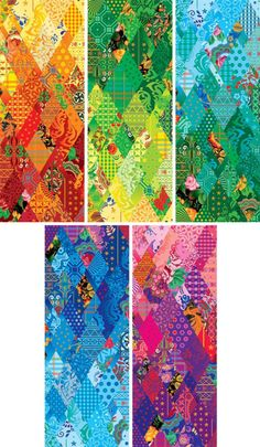 Sochi XXII Olympic Winter Games Identity...........I love that they used quilts for the Olympic identity!