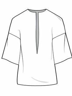 trendy Ideas for fashion sketches trazo plano Fashion Design Template, Fashion Pattern, Fashion Templates, Moda Fashion, New Fashion, Trendy Fashion, Fashion Art, Flat Drawings, Flat Sketches