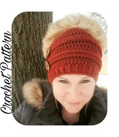 Crochet Pattern Messy Bun Beanie  Crochet by SerendipityasAlways