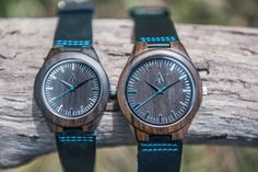 Couples Wooden Watches // Theo Blue
