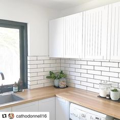 Laundry inspo! Timber benchtops mixed with profiled doors make the perfect laundry combination! Laundry Room, Kitchen Cabinets, House, Reno Ideas, Instagram, Home Decor, Doors, Videos, Photos