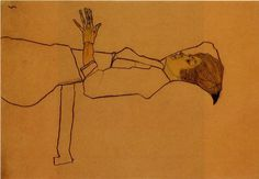 Clothed Woman, Reclining, 1910 - Egon Schiele - WikiArt.org