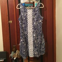Lily Pullitzer for Target shift dress Worn once ! Hard to find Lily for target dress. Navy blue and white. Just in time for the warmer weather ! Runs slightly small ! Lilly Pulitzer for Target Dresses