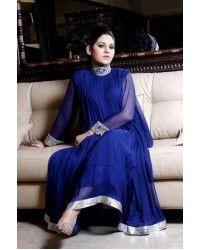 Blue Embroidered Anarkali Party Dress  Pakistani Indian Bridal Wear pakistani men kurta Pakistani men shalwar kameez Pakistani men suits