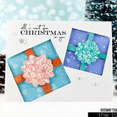 It's day 1 of @thetonstamps December release and we're previewing the stamps AND couture inks in today's post. I have a card for you featuring the Grand Bows.  Check out The Ton blog and DT blogs for details on other products in the release and join all the giveaways!! #theton #thetonstamps #decemberrelease #grandbows #giveaway