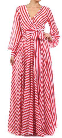 Full Length Wrap Maxi Dress