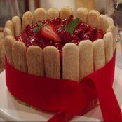 Torta de morango de final de ano
