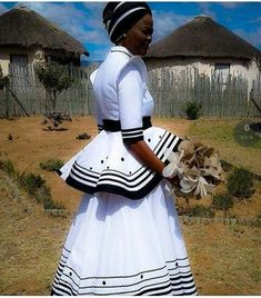Latest African traditional IsiXhosa dress - Styles 2d African Wedding Dress, African Print Dresses, African Print Fashion, Africa Fashion, African Wear, African Attire, African Fashion Dresses, African Women, African Dress