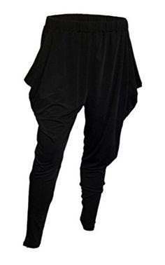 eVogues Plus Size Harem Pant Black  3X >>> You can get additional details at the image link.