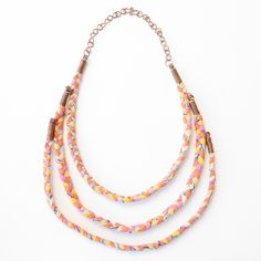 This hand-stitched and hand-braided fabric necklace is made from vintage Bengali saris by our artisans in Bangladesh.  http://www.global-mothers.com/products/braided-sari-necklaces-5-colours