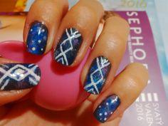 Galaxy tribal nail art DIY :)