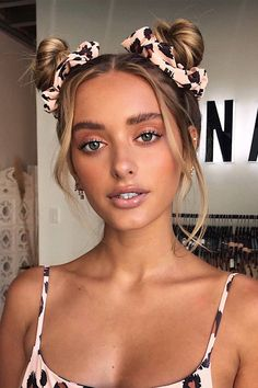 15 Scrunchie Hairstyles - How To Wear a Scrunchie, scrunchie bun, scrunchies, scrunchie hairstyles curly hair,how to use a scrunchie to make a bun Long Curly Hair, Curly Hair Styles, Hair Inspo, Hair Inspiration, 90s Hairstyles, Scrunchy Hairstyles, Festival Hairstyles, 80s Hair, Hair Goals