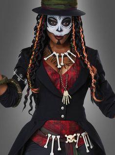 Voodoo sorceress costume for women Voodoo Priestess Costume, Sorceress Costume, Voodoo Costume, Priest Costume, Doctor Costume, Joker Costume, Voodoo Party, Voodoo Halloween, Halloween Eye Makeup