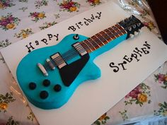 My first guitar cake