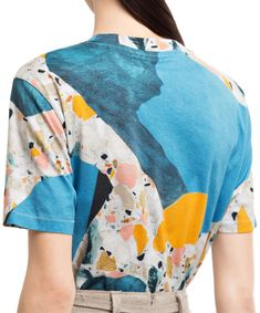 Acne studios / College print terazzo blue/black