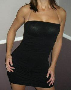 df5d7551fd Very Sexy Strapless Clubwear Party Ruched on Sides Tube Mini Dress Black  S M