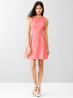 Linen fit & flare dress Product Image