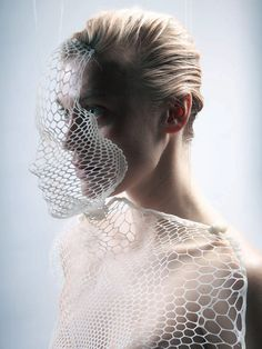 Lucy McRae becoming transnatural..... This is literally sculptural fashion!! Love it!!!