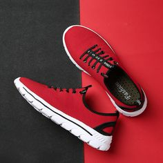 sports shoes e0eaf a853b Men Knitted Fabric Elastic Laces Sport Running Sneakers is fashionable and  cheap, buy best sneakers for plantar fasciitis for family-NewChic.