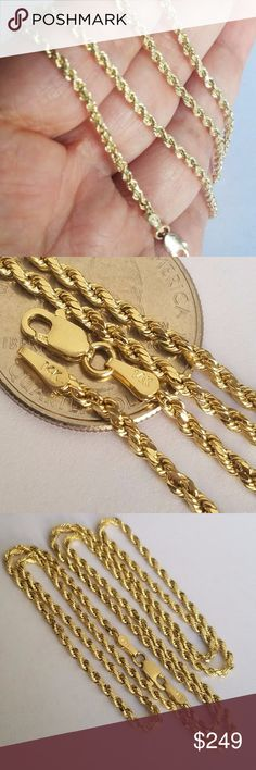 Is Monet Jewelry Real >> Monet Gold Rope Chain Monet Necklace Gold Monet Necklace Unisex