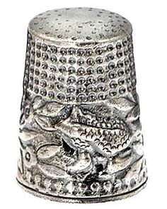 Sterling silver Frog Price thimble ... wonderland!