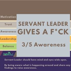 Servant Leader Gives a F*ck – Awareness Leadership, Trust, Mindfulness, Shit Happens, Motivation, Consciousness, Inspiration, Awareness Ribbons