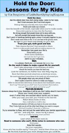 Lessons for My Kids by @LetMeStart Kim Bongiorno