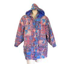 Vintage 90s Hooded Silk Spring Jacket by #ShineBrightVintage