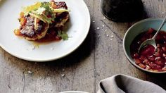 Curtis Stone's Thai-style crab cakes with mango gastrique.