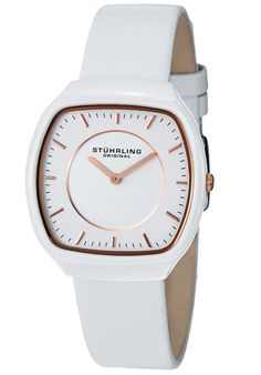 Price:$109.33 #watches Stuhrling Original 435.12EP2, With its ceramic case and ultra-soft leather straps, this watch is both comfortable and stylish. This women's timepiece will make the perfect gift for all occasions.