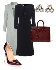 """Work"" by cgraham1 on Polyvore featuring ADAM, Prada, Vintage, Christian Louboutin and Yves Saint Laurent"