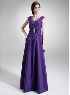Mother of the Bride Dresses - $190.99 - A-Line/Princess V-neck Floor-Length Taffeta Mother of the Bride Dress With Ruffle Lace Beading  http://www.dressfirst.com/A-Line-Princess-V-Neck-Floor-Length-Taffeta-Mother-Of-The-Bride-Dress-With-Ruffle-Lace-Beading-008006011-g6011