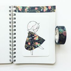 Quand le ruban Washi s'invite dans le dessin, le résultat est étonnant! / When Washi tape is added to drawings, the result is breathtaking! 2 & 4 From : Artist 3 and 5 . Beautiful Drawings, Cute Drawings, Washi Tape, Chibi Manga, Tape Art, Dibujos Cute, Pretty Art, Art Inspo, Art Sketches