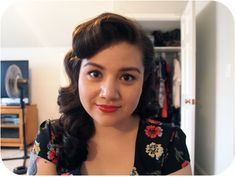 Vintage Hair Tutorial, front barrel