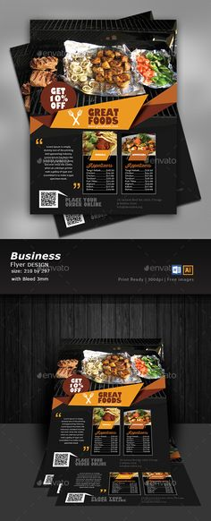 Buy Restaurant Flyer Template by Designcrew on GraphicRiver. Restaurant Flyer Template fully editable in illustrator and word Source: Ai, Eps, Word 2013 Size: 210 by Hotel Menu, Restaurant Menu Template, Restaurant Flyer, Pizza Flyer, Pizza Menu, Illustrator Cs6, Print Templates, Business Flyer, Flyer Template