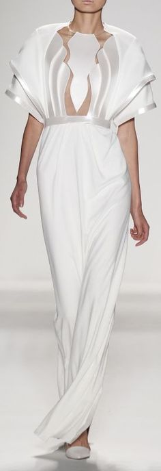 Alon Livne Spring 2014 – Mercedes-Benz Fashion Week - Art Deco Top Part Couture Fashion, Runway Fashion, Fashion Trends, Trendy Fashion, Fashion Tips, Business Casual Outfits For Women, Business Outfits, Fashion Details, Fashion Design
