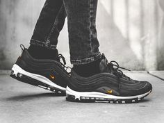 nike air max 97 'jdi' trainer black / white / total orange