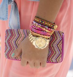 Colorful arm candy, www.loavies.com.