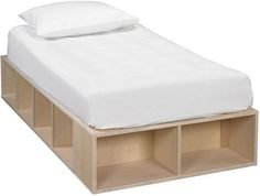Bedroom: Bed With Mattress White And Black Frame Height Are Keeping The Drawer Below from Ideal Storage Bed Frame
