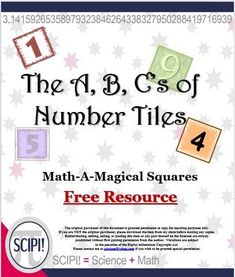 The construction and analysis of magic squares provides practice in mental arithmetic, operations with numbers, geometry and measurement plus it encourages logical reasoning and creativity. They are a powerful tool for teaching students basic addition skills since each row, column and diagonal must add up to be the same. The letters of this free math resource are solved in a similar way. Answer recording sheets are provided for the student as well as possible solutions for the teacher.