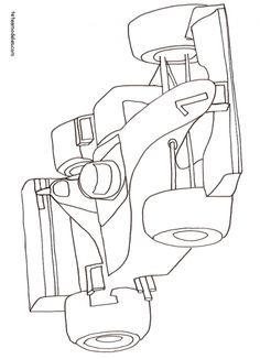 coloriage Coloriage voiture de formule 1- dessin 9