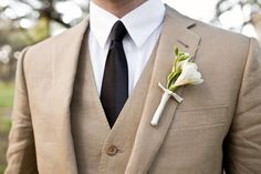 Wedding Suits Really like this color for the groomsmen.but knowing them they will have stains all over by the end of the night. White Tuxedo Wedding, Taupe Wedding, Wedding Men, Wedding Suits, Wedding Ideas, Khaki Wedding, Wedding Tuxedos, Wedding Beauty, Trendy Wedding