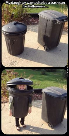 Trash can for Halloween