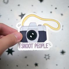 Photographer Camera Funny Vinyl Sticker - I Shoot People - Cameraman - Snap - Funny Camera Stickers - Cute - Notebook Laptop Stickers - S79