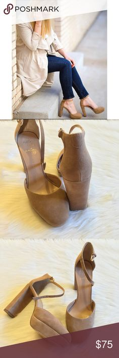 Banana Republic Mocha suese heels Fall perfection! Banana Republic sues platforms heels are not too chunky but a classy turn on the retro style! No trades 💕 Banana Republic Shoes Heels