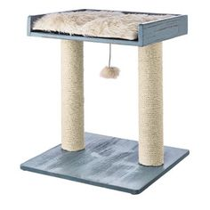 Indulge your feline's senses with sisal and ultra-soft fleece textures on the rustic You & Me White Scratch & Play Cat Perch. Whether your kitty is looking to claw or play. This piece offers irresistible & attractive elements to satisfy all three needs. Pet Furniture, Rustic Furniture, Cat Perch, Cat Scratching Post, Cat Scratcher, Cat Room, Cat Supplies, Cat Tree, Animal Design