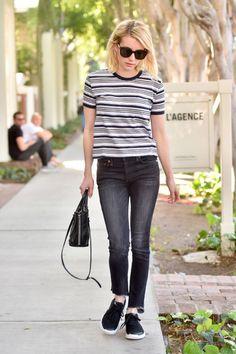 celebrity, emma roberts, and jeans Bild