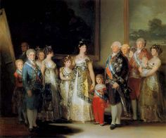 Charles IV of Spain and His Family is an oil on canvas painting by the Spanish artist Francisco Goya completed in the summer of The family is dressed in their finest clothing and jewelry. The painting is displayed at Museo del Prado in Madrid Spain. Chef D Oeuvre, Oeuvre D'art, Francisco Goya Paintings, Famous Spanish Artists, Fernando Vii, Francisco Jose, Japanese Poster, Spanish Painters, Family Portraits