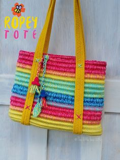 Crochet Bag Pattern ~ Instant Download ~ Ropey Tote by TheLittleBeeNZ on Etsy